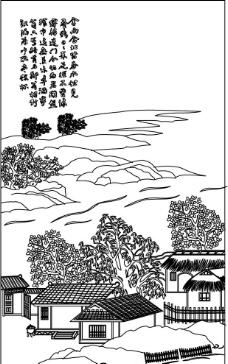 乡村矢量图图片