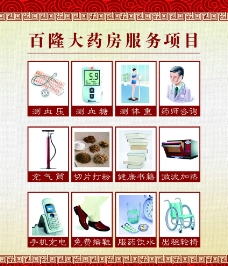 药房服务项目小标识图片