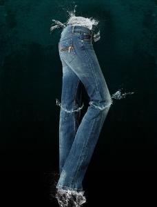 ERQ水花创意牛仔裤图片