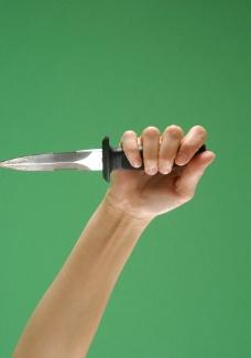 握刀的手图片