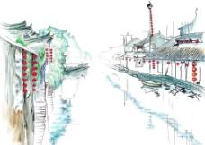 乌镇绘画图片