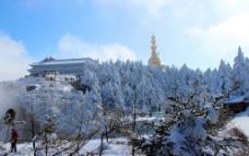 雪景 峨眉山图片