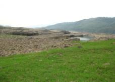 黔江 干枯的河床图片
