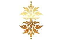 欧式金色菱角叶状矢量花纹图片