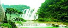 风景 迎客松 自然奇观 瀑布