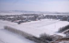 北方村庄的冬天图片