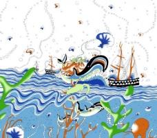 抽象海景图片