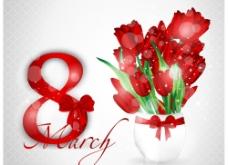 三八妇女节 郁金香 鲜花图片