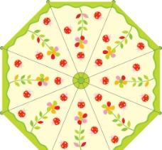 花版伞设计图片