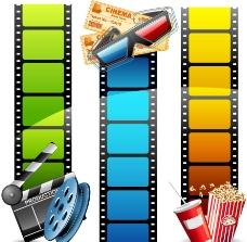 动感影带影视背景图片