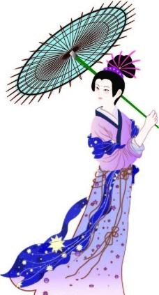 清宫美女手绘图素描