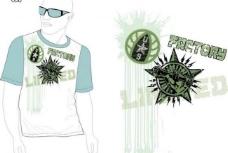 t恤花纹流行图案图片