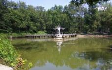 古栖霞池图片