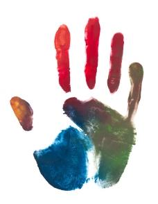 彩色手纹掌印图片