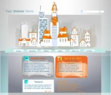 城市建筑网页设计图片