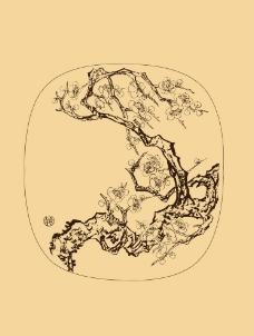 团扇扇面梅花图图片