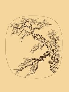 团扇扇面 梅花图片