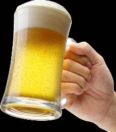 举手的啤酒图片