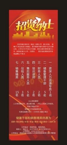 招贤纳士 招聘海报图片