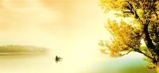 树 湖图片