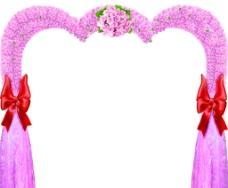 粉红玫瑰花门图片