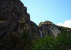 川藏线卡定沟天佛瀑布图片