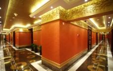 中式酒店长廊图片