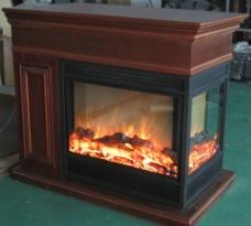 欧壁火套装伏羲三面观火壁炉图片