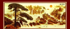 中堂壁画图片