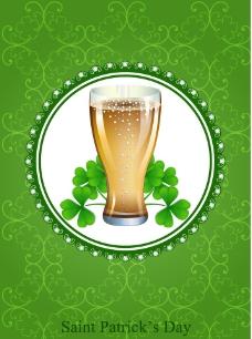 幸运三叶草啤酒背景图片