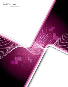 紫色动感线条直角背景图片
