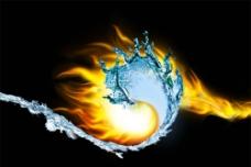 火与水的交融图片