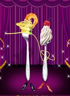 创意西餐海报图片