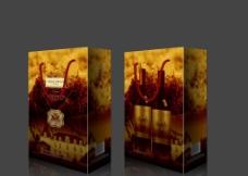 红酒包装(展开图)图片