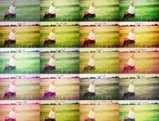 欧美儿童照片调色动作图片