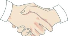 握手的手势图片