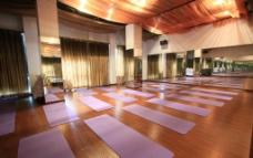 瑜伽馆室内实景设计图片