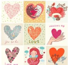 情人节爱心花纹图片