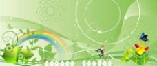绿色背景墙图片