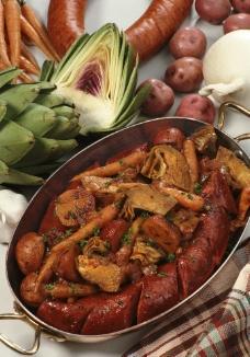 蔬菜烤香肠图片