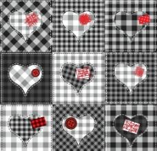 爱心格子背景图片