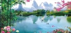 风景画 山清水秀图片