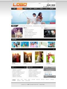 黑色婚纱摄影网站模板图片