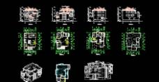 CAD三层别墅图图片