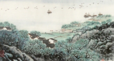 江南春潮圖片