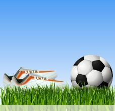 草地足球足球鞋图片