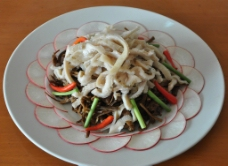 茶树菇炒羊肚图片