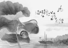 小桥鸳鸯流水图图片