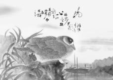 小桥胖鸭流水图图片