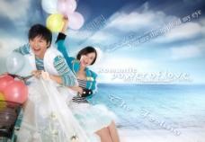 快乐海边 婚纱样片图片